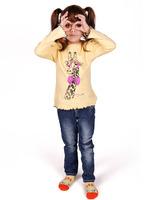 """Джемпер для девочек """"Стильный жираф"""" dg-1408"""