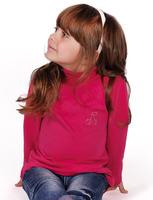 Водолазка для девочки со стразами  dgs-1208